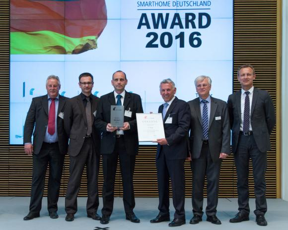 The Award was presented by Mr. Heinz Lux, CEO of KNX Association