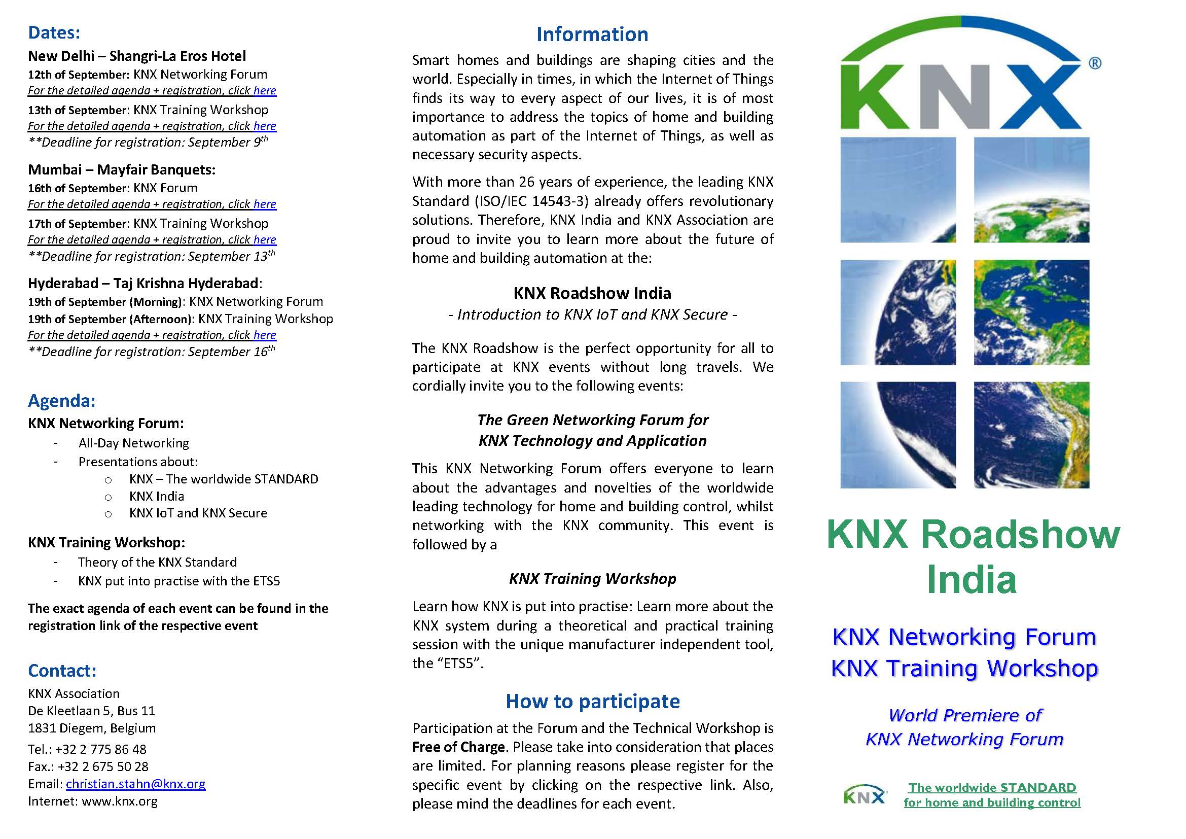 Invitation and Program KNX Roadshow India