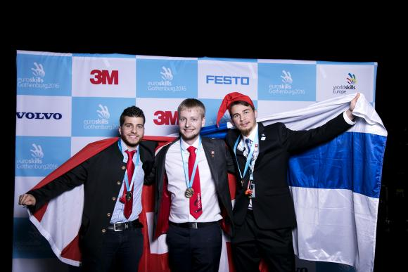 18 hours of full duty, stress, sweat and persistence @Euroskills2016!