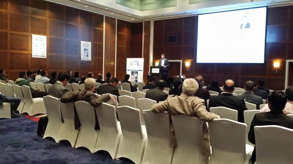Prof. Dr. Praus presenting KNX Secure in Dubai
