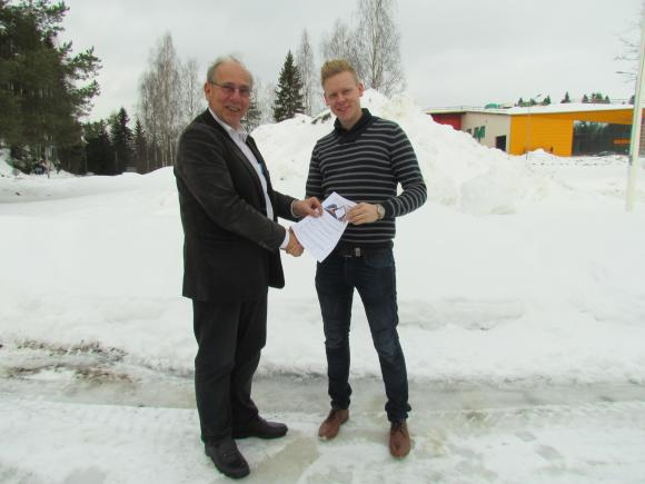 Cool Winner - Pekka Aho receives the first ETS Inside License