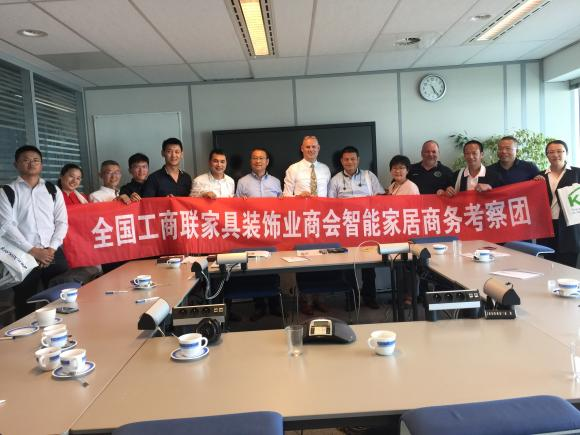 Large Chinese delegation visits the KNX Head Office