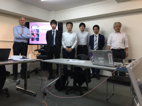 The trainees in the presence of their KNX tutor, Mr. Demarest (KNX CTO)