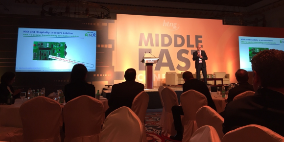 KNX demonstrates security of hotel rooms at HTNG Middle East Conference