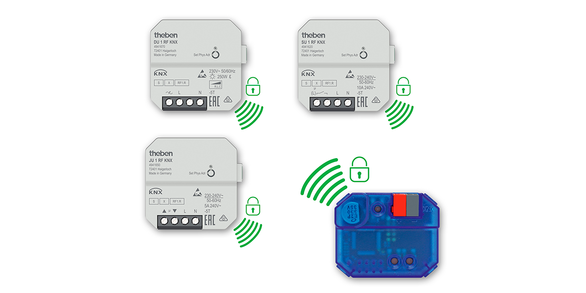 KNX Data Secure wireless actuators for flush-mounting