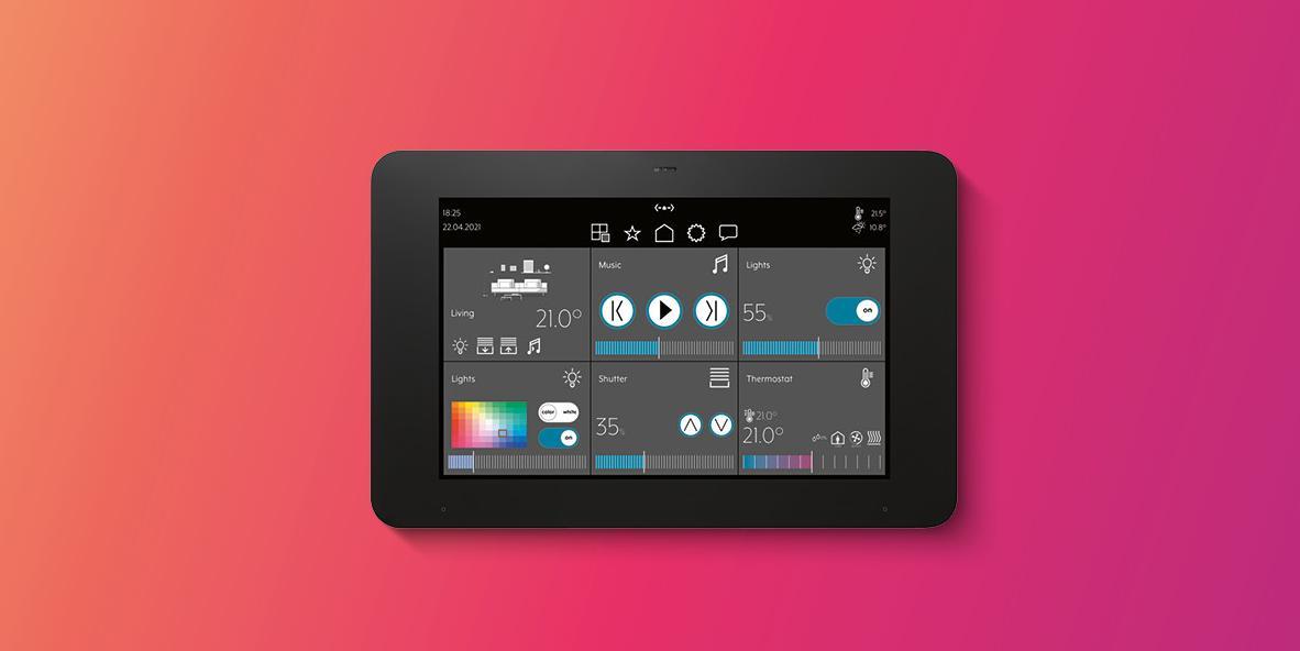 JUNG Smart Panel 8 met Smart Vision app als visualisatieoplossing voor KNX-systemen